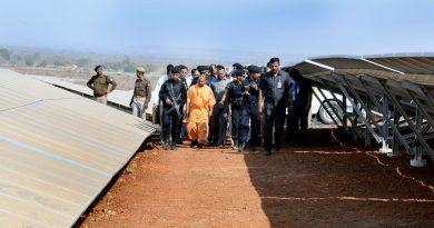 UPCM ने मिर्जापुर में N.G. सोलर प्लाण्टके लोकार्पण स्थल का निरीक्षण किया