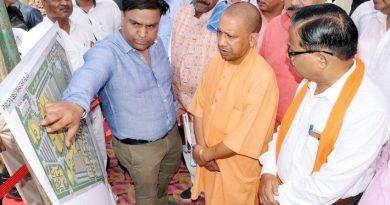 UPCM ने गोरखपुर में निर्माणाधीन एम्स और नन्दानगर अण्डरपास का निरीक्षण किया