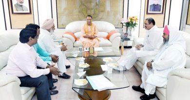 UPCM लखनऊ में केन्द्रीय सामाजिक न्याय एवं अधिकारिता राज्यमंत्री विजय सांपला से मुलाकात करते हुए