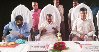 UPCM मंत्रिमंडल के समाज कल्याण मंत्री ने राष्ट्रीय वयोश्री योजना के अन्तर्गत निःशुल्क सहायक उपकरण वितरित किये