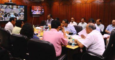 UPCM NEWS, मुख्य सचिव ने वीडियो कान्फ्रेन्सिंग के माध्यम से महत्वपूर्ण योजनाओं की समीक्षा बैठक की