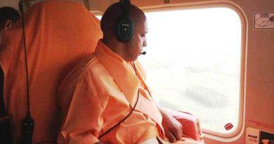 UPCM ने लखीमपुर खीरी के बाढ़ प्रभावित क्षेत्रों का हवाई सर्वेक्षण किया