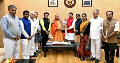 UPCM ने अपने सरकारी आवास पर गुजरात के प्रतिनिधि मंडल से भेंट की