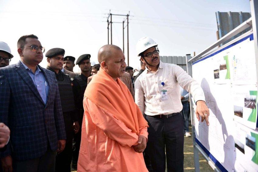 UPCM गोरखपुर में फर्टिलाइजरकारखाने एवं चिलुआ ताल का निरीक्षण करते हुए