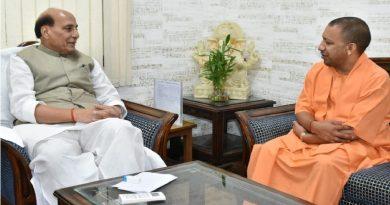 UPCM योगी ने केंद्रीय रक्षा मंत्री राजनाथ सिंह से मुलाकात की