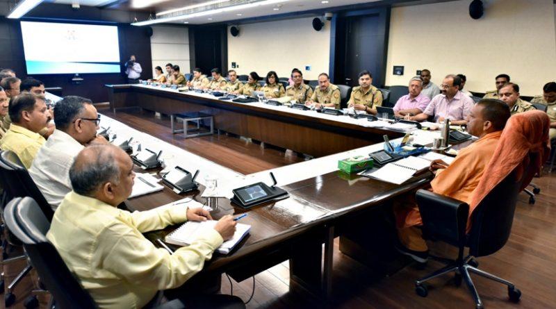 UPCM योगी ने प्रदेश में अपराध नियंत्रण और कानून-व्यवस्था के सम्बन्ध में समीक्षा की
