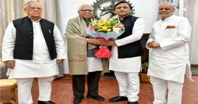 पूर्व मुख्यमंत्री अखिलेश यादव ने राज्यपाल राम नाईक से मुलाकात की