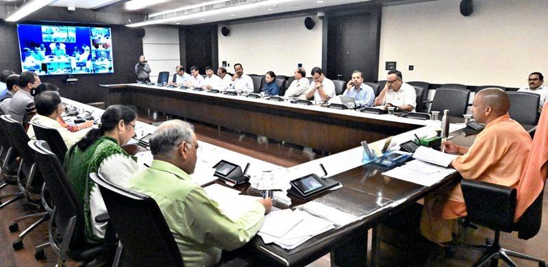 UPCM ने 08 महत्वाकांक्षी जनपदों के अधिकारियों के साथ वीडियो काॅन्फ्रेंसिंग की
