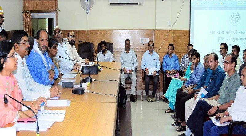 मंत्री उपेन्द्र तिवारी ने खेल एवं युवा कल्याण निदेशालय में विभागीय कार्यों और योजनाओं की समीक्षा की